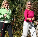 Physical Benefits research for walking with poles
