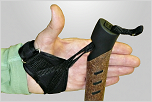 4F. Thumb: Adjust and set the palm straps