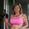 Jane uses walking poles for Muscle Definition