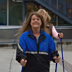 Barb uses walking poles for Mental Wellness Conditions