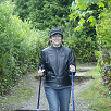 Vicky uses walking poles for Brain or Head Injuries & Challenges