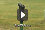 You want the best walking pole foot for the terrain.